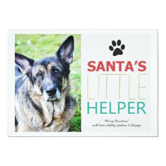 Santas helgdag för foto för Hjälpredahusdjur 12,7 X 17,8 Cm Inbjudningskort