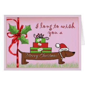 Santas hjälpreda hälsningskort
