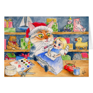 Santas hjälpredajulkort hälsningskort
