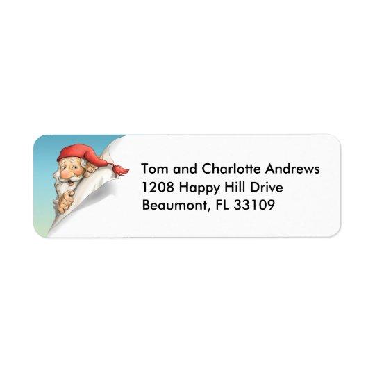 Santas jul listar returadress etikett