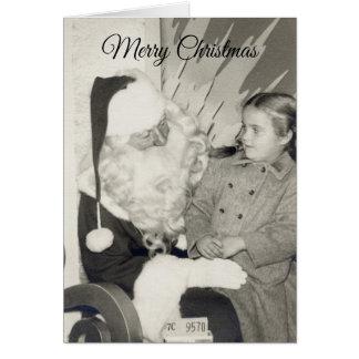 Santas kort för önskemål för varvjul