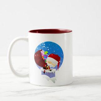 Santas lampglas Två-Tonad mugg
