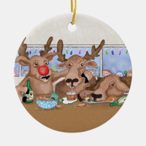 Santas ren som dåligt uppför prydnaden juldekoration
