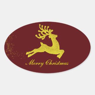 Santas renklistermärke ovalt klistermärke