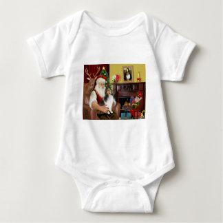 Santas Shetland Sheepdog (v) Tee Shirts