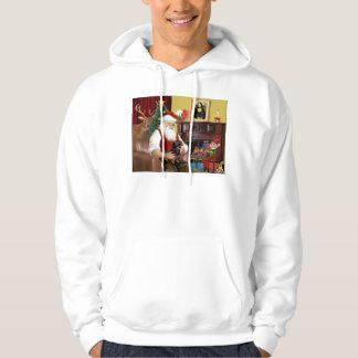 Santas svart/solbrända tax (#16) sweatshirt
