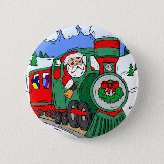 Santas tåg standard knapp rund 5.7 cm