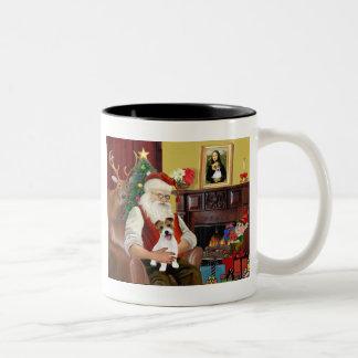 Santas VALP för jackRussell Terrier Två-Tonad Mugg
