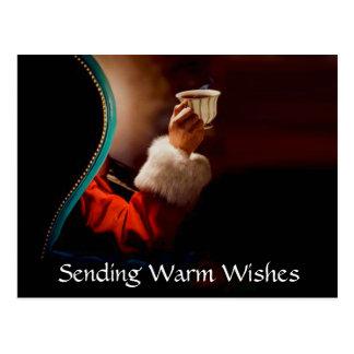 Santas vintage för kaffeavbrott vykort