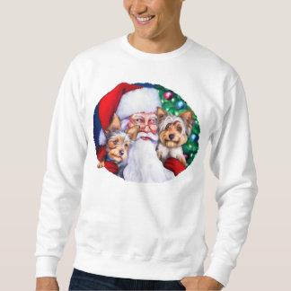 Santas Yorkies på jul Långärmad Tröja