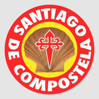 Santiago de Compostela Runda Klistermärken