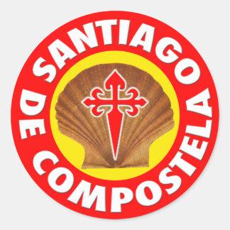 Santiago de Compostela Runt Klistermärke