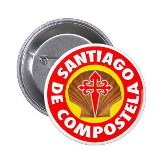 Santiago de Compostela Standard Knapp Rund 5.7 Cm