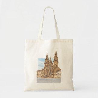 Santiago de Compostela. Western fasad. Spanien Tygkasse