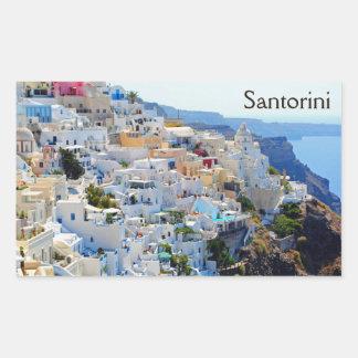 Santorini 2 rektangulärt klistermärke