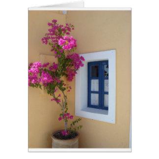 Santorini fönster kort