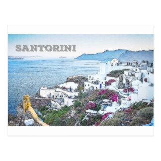 Santorini Grekland Vykort