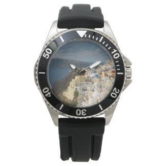Santorini i eftermiddagsolen armbandsur