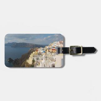 Santorini i eftermiddagsolen bagagebricka
