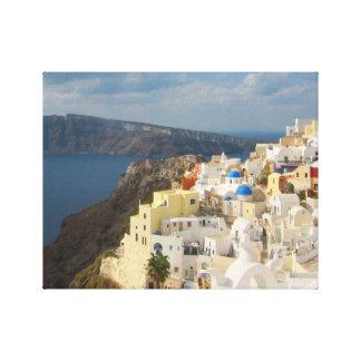 Santorini i eftermiddagsolen canvastryck