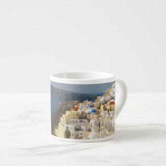 Santorini i eftermiddagsolen espressomugg