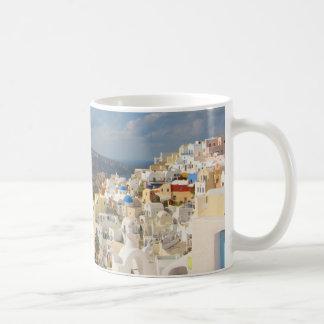 Santorini i eftermiddagsolen kaffemugg
