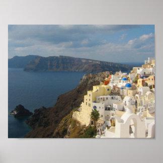 Santorini i eftermiddagsolen poster