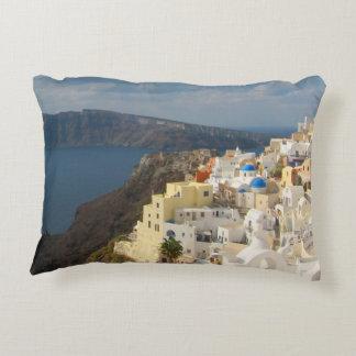 Santorini i eftermiddagsolen prydnadskudde