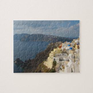 Santorini i eftermiddagsolen pussel