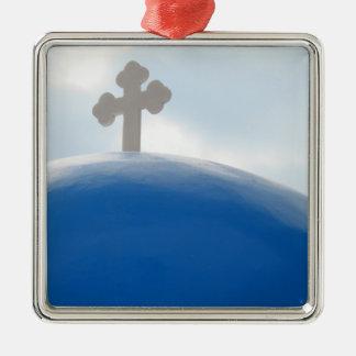 Santorini kor i eftermiddagsolen julgransprydnad metall
