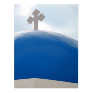 Santorini kor i eftermiddagsolen vykort
