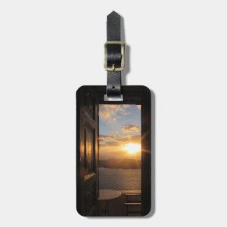 Santorini solnedgång bagagebricka