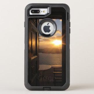 Santorini solnedgång till och med dörr OtterBox defender iPhone 7 plus skal