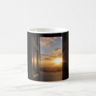 Santorini solnedgångmugg kaffemugg