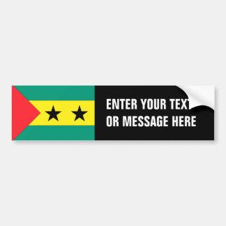 São Tomé och Príncipe flagga Bildekal