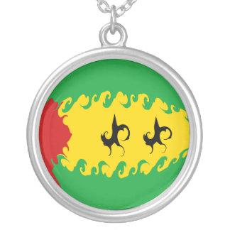 São Tomé och Príncipe Gnarly flagga Halsband Med Rund Hängsmycke