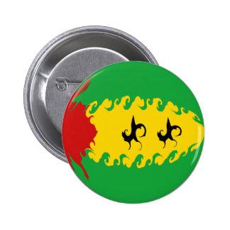São Tomé och Príncipe Gnarly flagga Knappar Med Nål