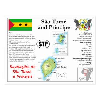 São Tomé och Príncipe kartavykort Vykort
