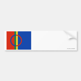Sapmi flagga bildekal
