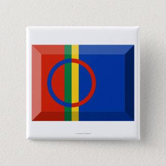 Sapmi flaggajuvel standard kanpp fyrkantig 5.1 cm