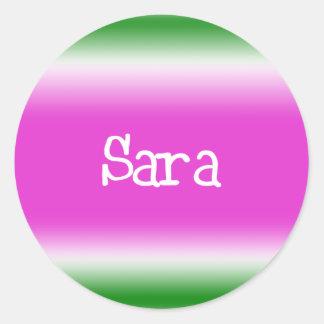 Sara Runt Klistermärke