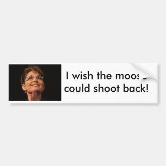 sarah_palin_01a önskar jag att älgen kunde skjuta  bildekal