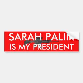 Sarah Palin är mitt presidentw-vapen Bildekal