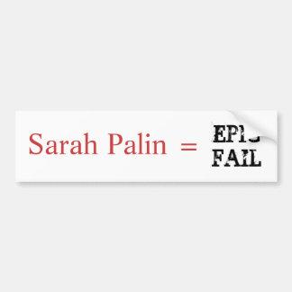 Sarah Palin = EPISK KUGGNING Bildekal