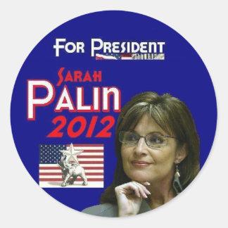 Sarah Palin för president Runt Klistermärke