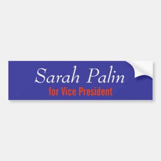 Sarah Palin för vicepresident Bildekal