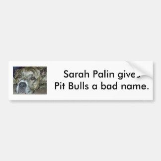 Sarah Palin ger groptjurar ett dåliganamn Bildekal