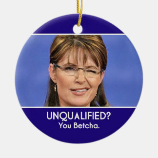 Sarah Palin okvalificerad prydnad Rund Julgransprydnad I Keramik
