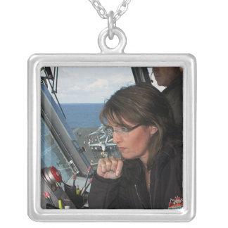 Sarah Palin Silverpläterat Halsband