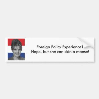 Sarah Palin, utrikespolitik erfar? Bildekal